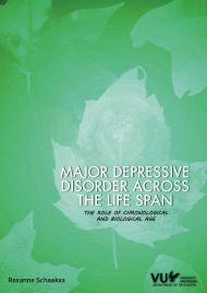 Major depressive disorder across the life span: The role of chronological and biological age