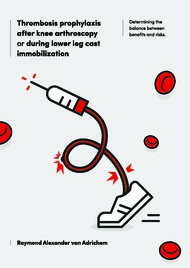 Thrombosis prophylaxis after knee arthroscopy or during lower leg cast immobilization