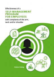 Effectiveness of a self-management program for employees with complaints of the arm, neck and/or shoulder