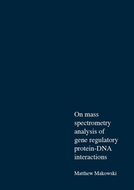 On mass spectrometry analysis of gene regulatory protein-DNA interactions